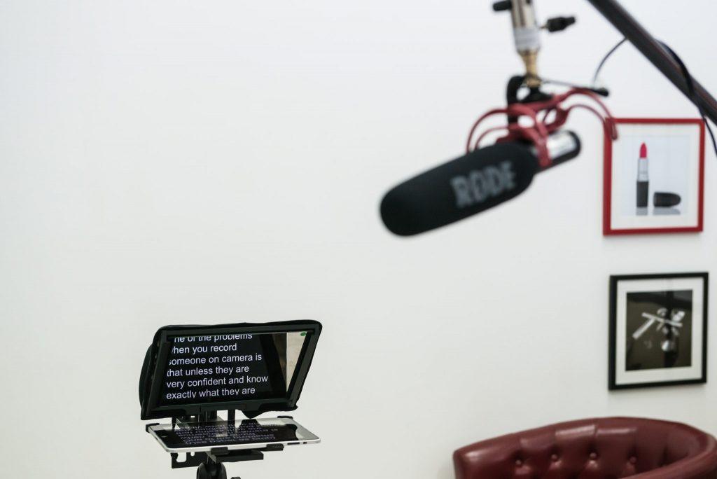 Autocue system at DT Studios